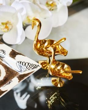 Brass Birds salt/pepparkar 1