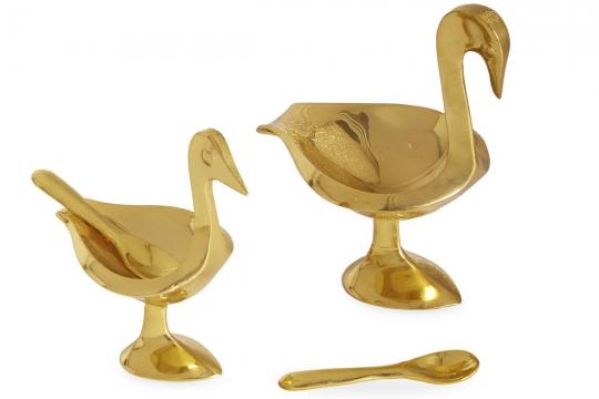 Brass Birds salt/pepparkar 3