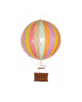 Floating The Skies luftballong regnbåge pastell 3