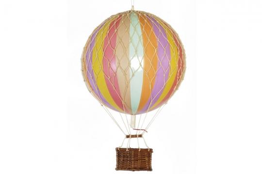 Travels Light luftballong regnbåge pastell 1