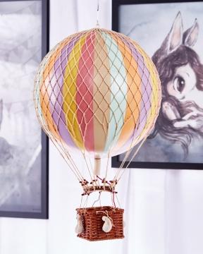 Royal Aero luftballong regnbåge pastell 1