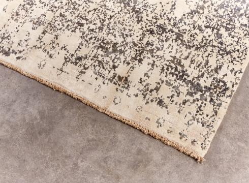 Orient Pashtu silk Grey White 198x312 3