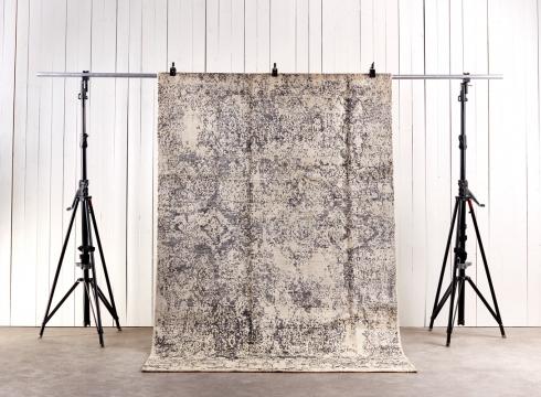 Orient Pashtu silk Grey White 198x312 1