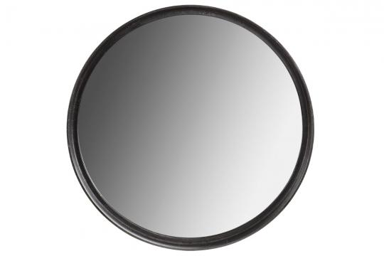 Dino spegel svart rund 3
