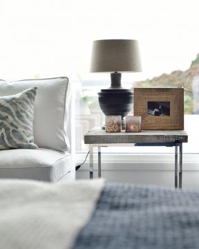Capri bordslampa grå 2