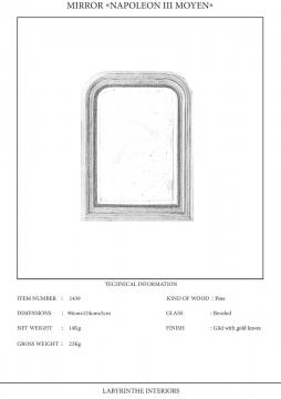 Napoleon III Moyen spegel 3