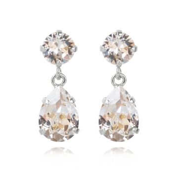 Minidropearrings crystal rhodium