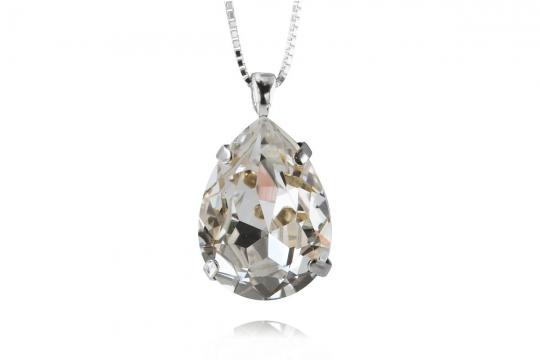 Classic Drop halsband crystal rhodium 1