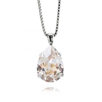 Mini Drop halsband crystal rhodium 1
