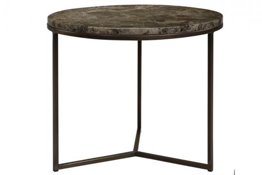 Cedes marmorbord Ø60 brons/mörkbrun 1