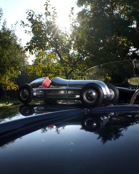 Indianapolis modellbil silver 1