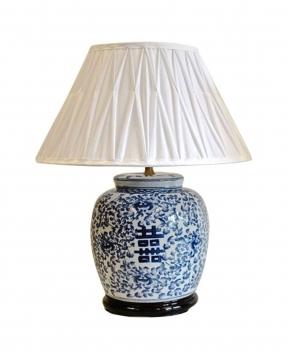 Kina bordslampa blå/vit 1