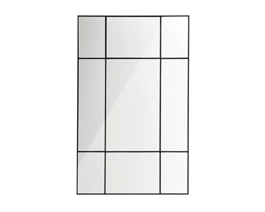 spegel med svart spröjs