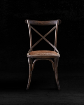Newport Cross Chair Burnt Oak 4
