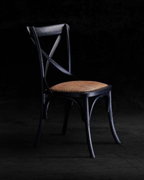 Newport Cross Chair Black 6
