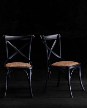 Newport Cross Chair Black 4