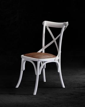 Newport Cross Chair White 4