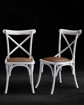 Newport Cross Chair White 5