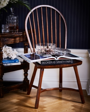 Newport Windsor matstol rich brown 1