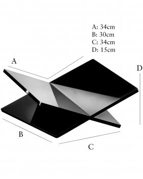 Bokstöd svart XL 3