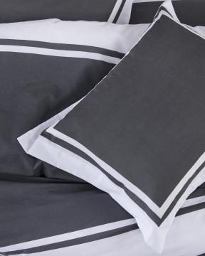 Oxford påslakanset grå/vit 4
