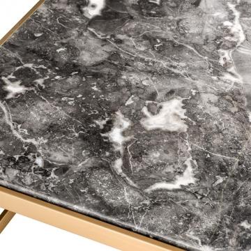 Soffbord La Quinta Brass Marble 4