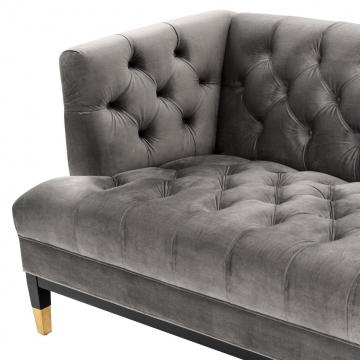 Soffa Castelle Roshe Porpiose Grey Velvet 6