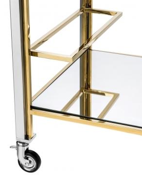 Drinkvagn Lindon Steel Gold 3
