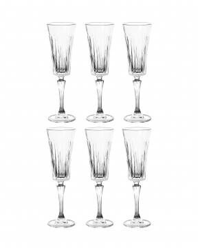 Manhattan champagneglas kristall 6-pack 2