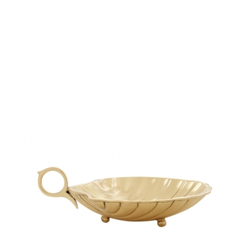 Tray Shell polished brass S 1
