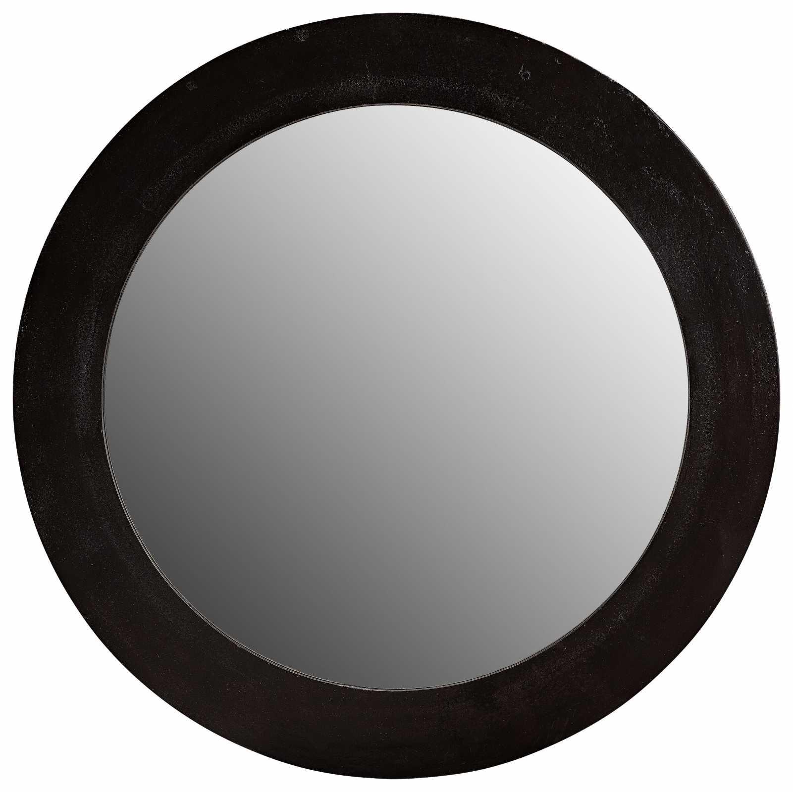 rund spegel med ram