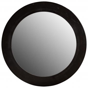 Enya spegel rund svart 1