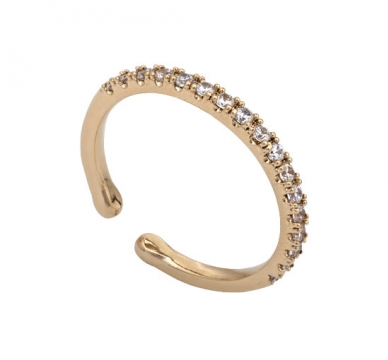 Kennedy ring crystal gold 1