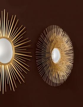 Spegel Solaris Guld L 6