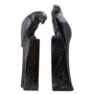 Bokstöd Perroquet Bronze set of 2 1