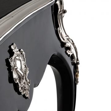 Skrivbord Lodewijk XV piano black 2