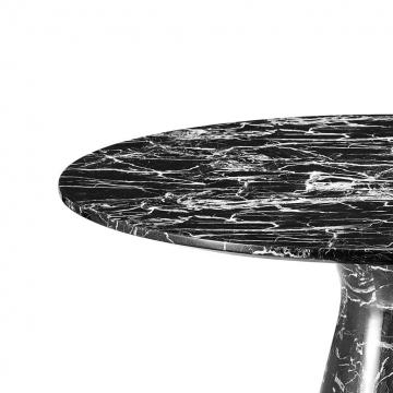 Matbord Turner black faux marble 3