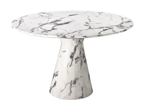 Matbord Turner white faux marble 1