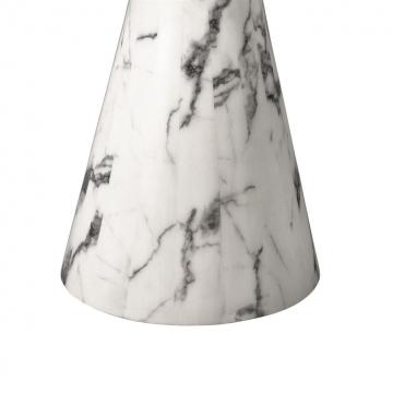 Matbord Turner white faux marble 2