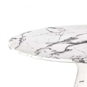 Matbord Turner white faux marble 3