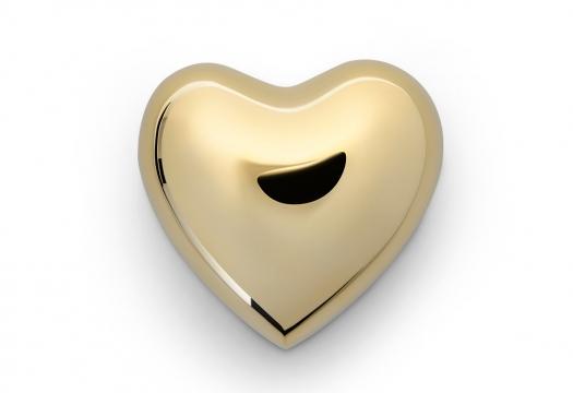 Hjärta mässing stor 1