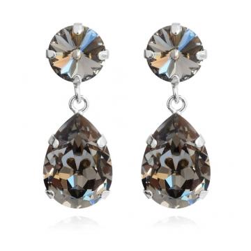 Mini Drop örhängen black diamond rhodium 1