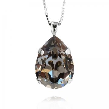 Mini Drop halsband black diamond rhodium 1