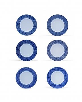 Capri Azzurra mattallrikar blå/vit 3
