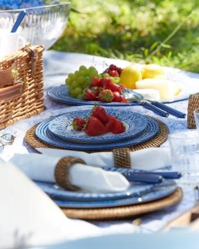 Capri Azzurra assietter blå/vit 4