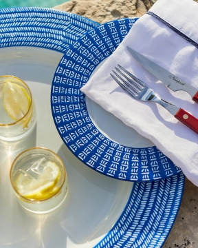 Capri Azzurra assietter blå/vit 1