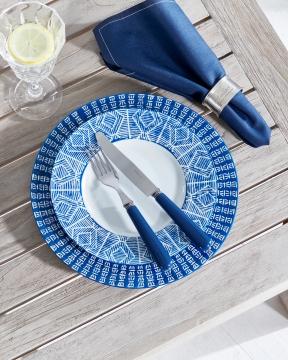 Capri Azzurra assietter blå/vit 2