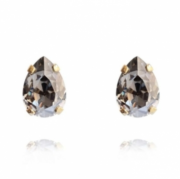 Mini Drop stud örhängen black diamond 1