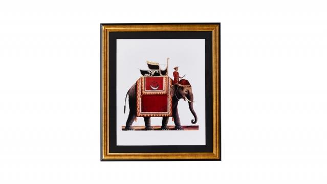 Tavla Elefant röd 1