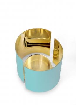 616-a infinity candleholder, large, azure 2 h10